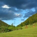 Peisaj vara Apuseni la Pesiunea Shanti in Apuseni
